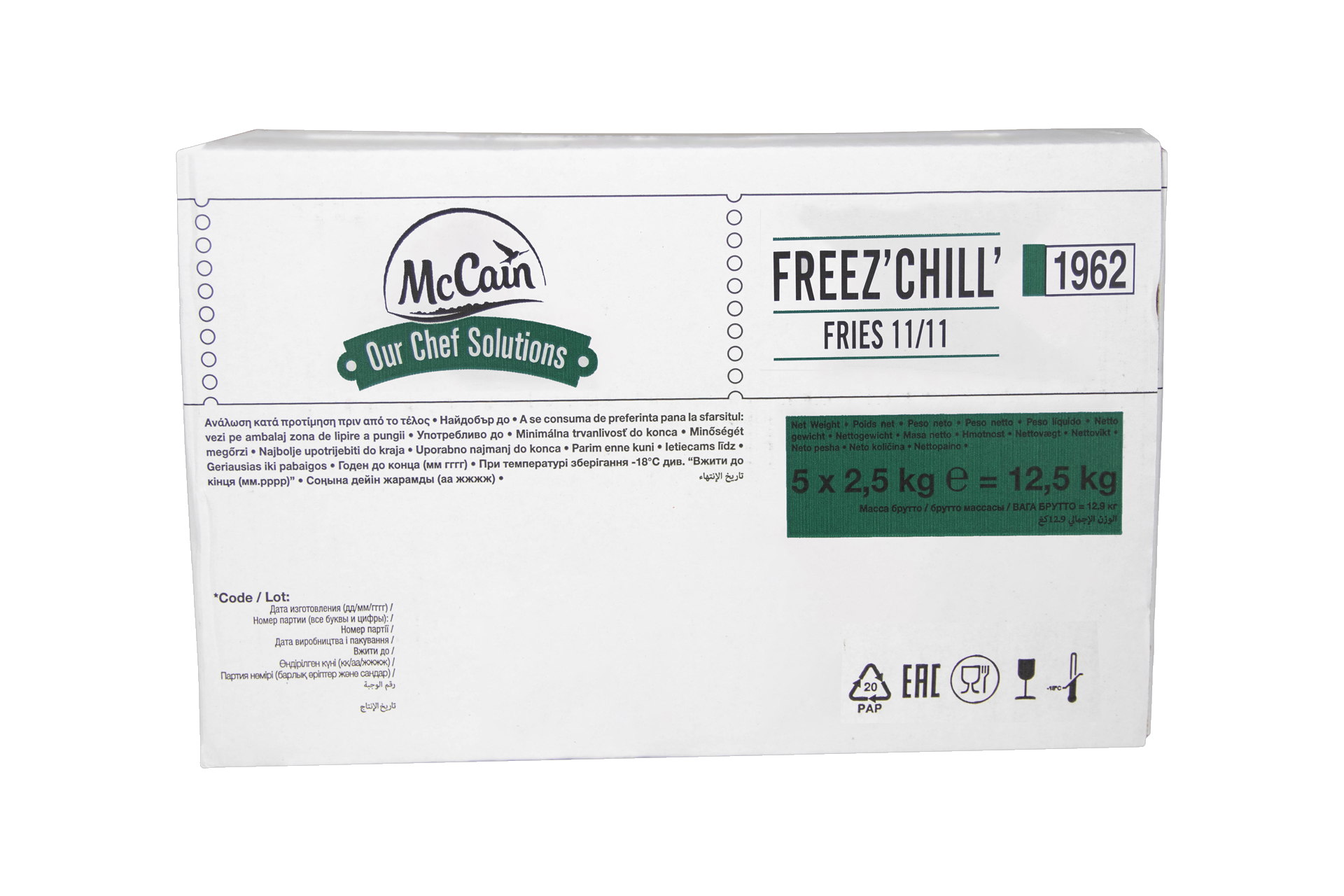 11 mm Friet (7/16) McCain Freez Chill